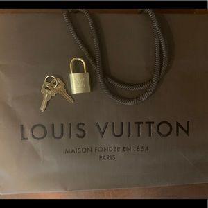 Louis Vuitton Keys and Lock set